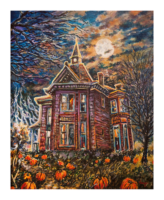 House On Pumpkin Hill Print by William Vanya