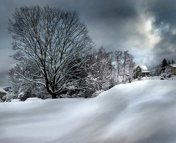 Nancy Griswold - House on the Hill Winters in Vermont