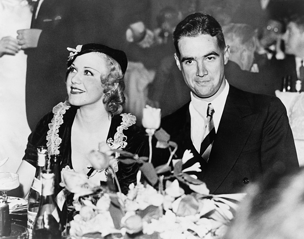 Howard Hughes Dated And Was Engaged Print by Everett