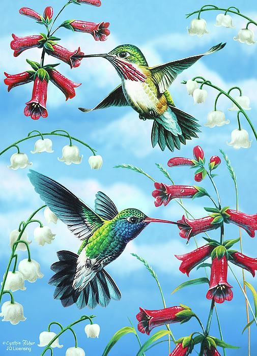 Humming Birds Print by JQ Licensing