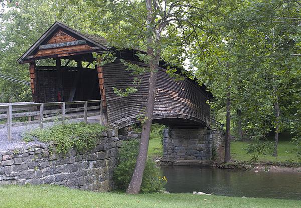Humpback Covered Bridge In Covington Virginia Print by Brendan Reals