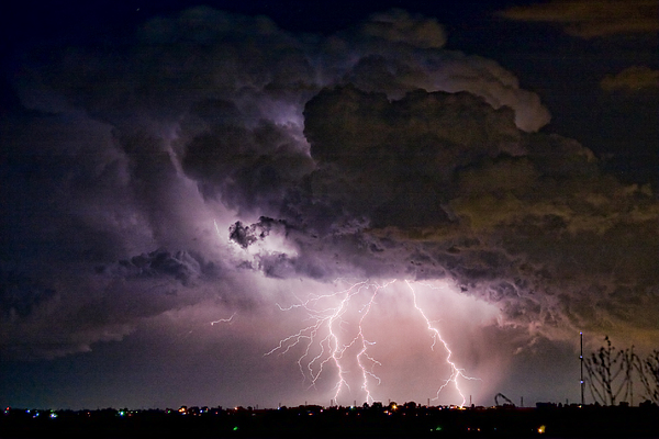 Hwy 52 - Hwy 287 Lightning Storm Image 29 Print by James BO  Insogna