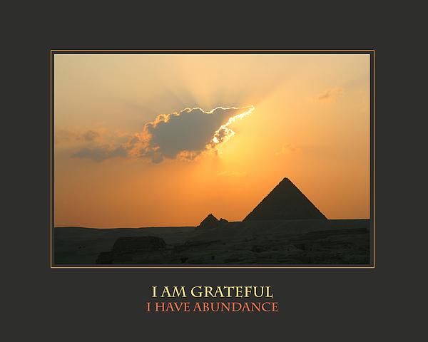 I Am Grateful I Have Abundance Print by Donna Corless