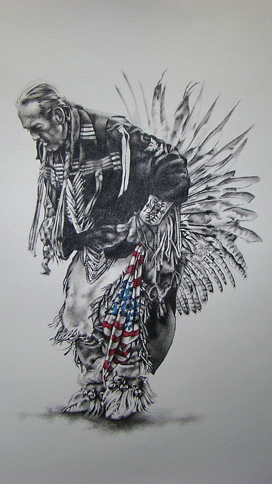 I Close My Eyes And Hear The Songs Of My Ancestors Print by Michael Lee Summers