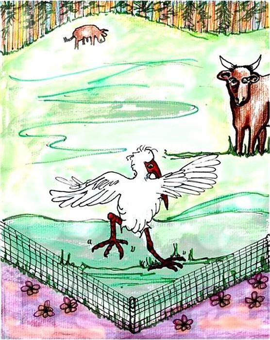 Ibis Hopping Print by Carol Allen Anfinsen