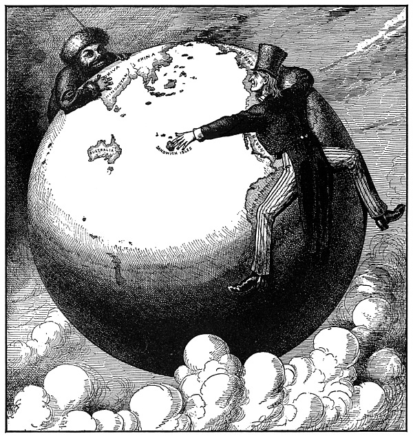 Imperialism Cartoon, 1876 Print by Granger