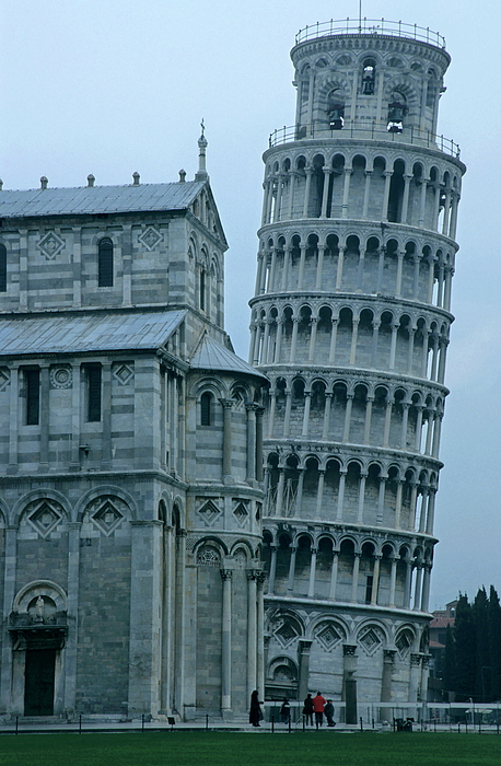 Impressive View Of The Cathedral Standing Alongside The Leaning Tower Of Pisa Print by Sami Sarkis