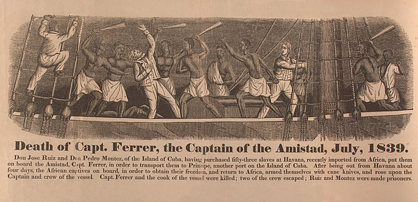 In 1839 Fifty-four African Captives Print by Everett