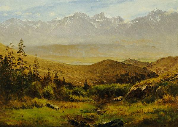In The Foothills Of The Rockies Print by Albert Bierstadt