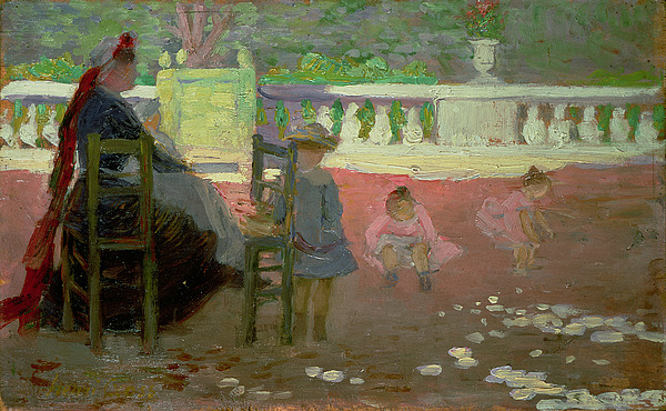 In The Luxembourg Gardens  Print by Henri Edmond Cross