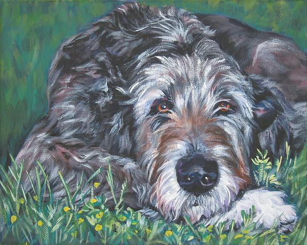 Irish Wolfhound Print by Lee Ann Shepard