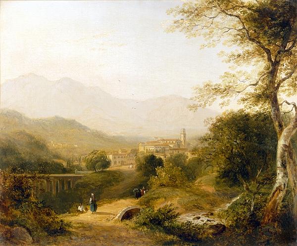 Italian Landscape Print by Joseph William Allen