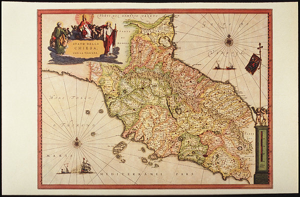 Italy, Vatican Church State,  Tuscany, Elba Island, And Marche Region Print by Fototeca Storica Nazionale