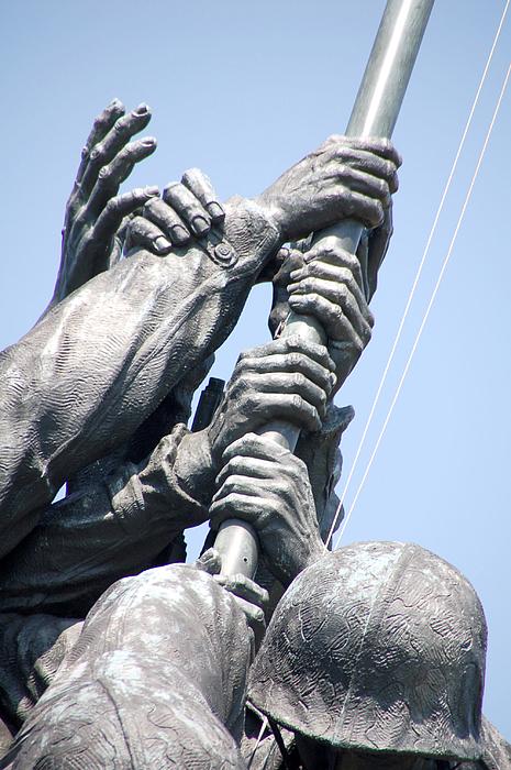 Iwo Jima Memorial Hands By Wayne Sheeler