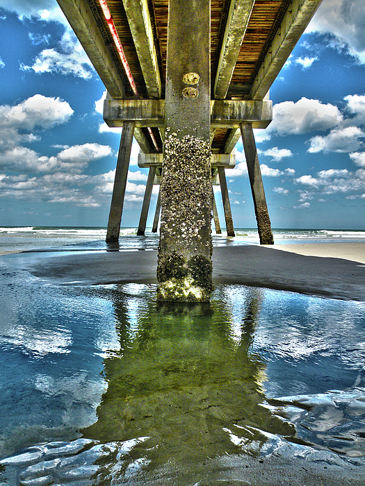 Jacksonville Beach Pier Print by Joe Hickson