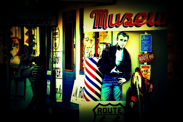 James Dean On Route 66 Print by Susanne Van Hulst