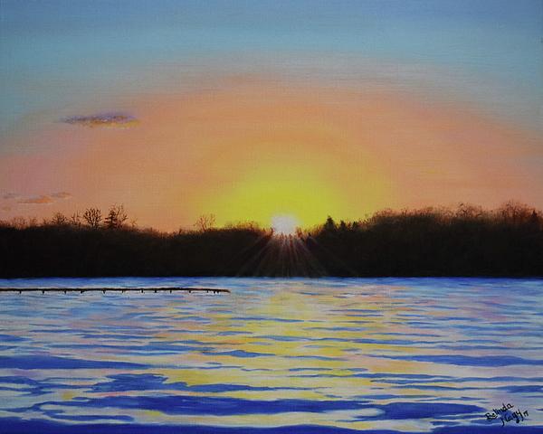 Belinda Nagy - January Sunset at Cedar Lake Lighthouse