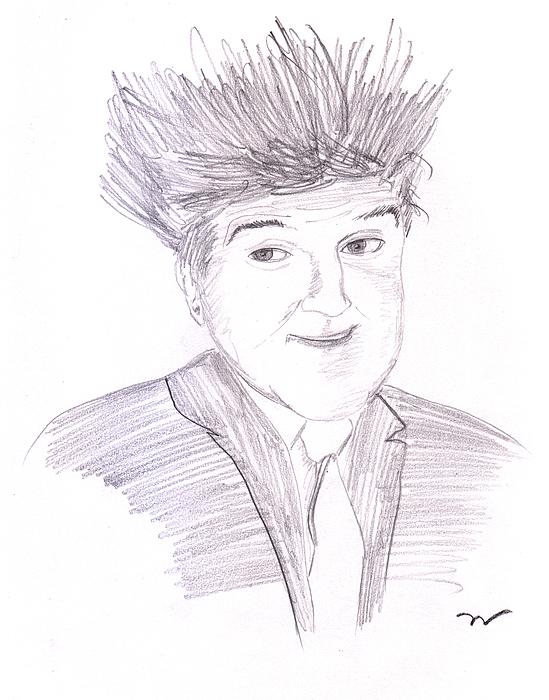 Jay Leno Hair Day Print by Jose Valeriano