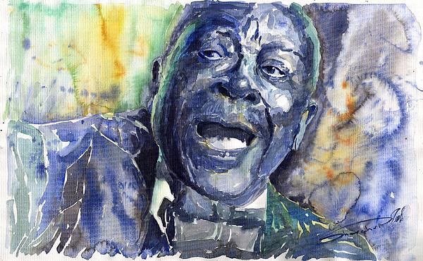 Jazz B B King 04 Blue Print by Yuriy  Shevchuk