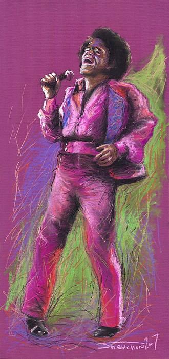 Jazz James Brown Print by Yuriy  Shevchuk
