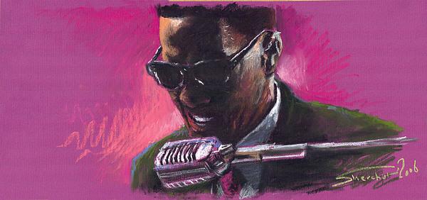 Jazz. Ray Charles.1. Print by Yuriy  Shevchuk