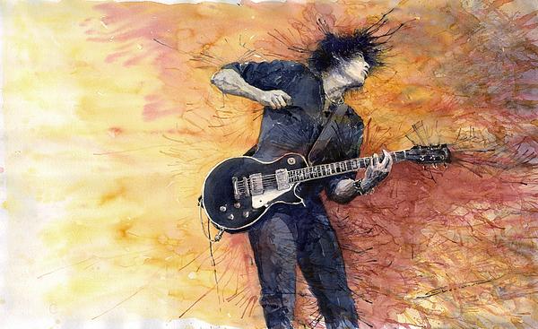 Jazz Rock Guitarist Stone Temple Pilots Print by Yuriy  Shevchuk
