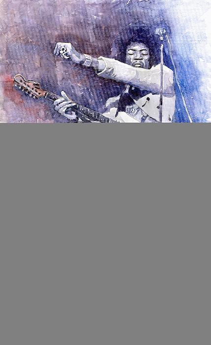 Jazz Rock Jimi Hendrix 07 Print by Yuriy  Shevchuk