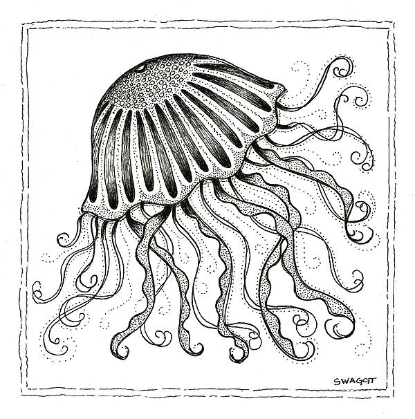 Jelly Fish Print by Stephanie Troxell