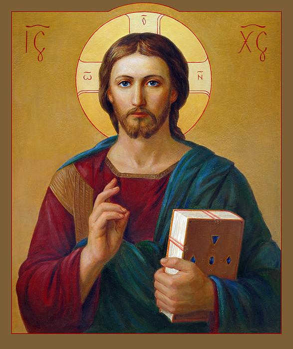 Jesus Christ Pantocrator Print by Svitozar Nenyuk