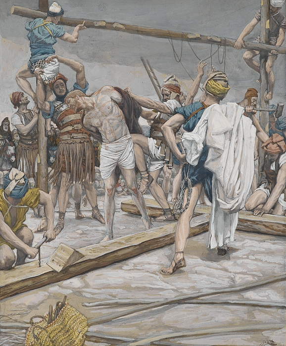 Jesus Stripped Of His Clothing Print by Tissot