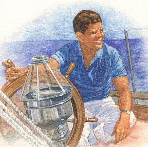 Jfk Sailing Print by Robert Casilla