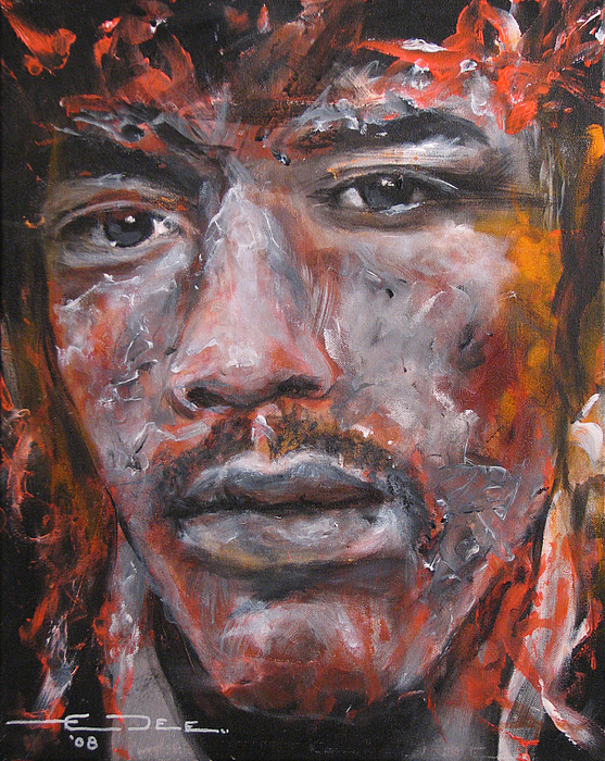 Jimi Hendrix Manic Depression Print by Eric Dee