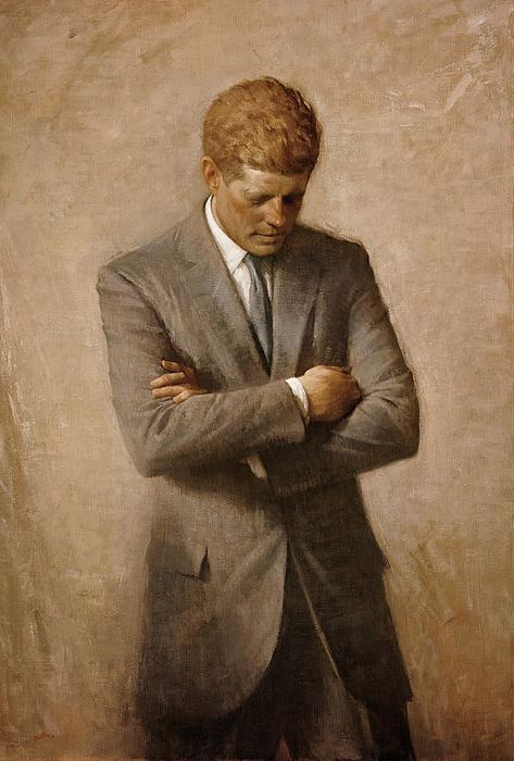John F Kennedy Print by War Is Hell Store