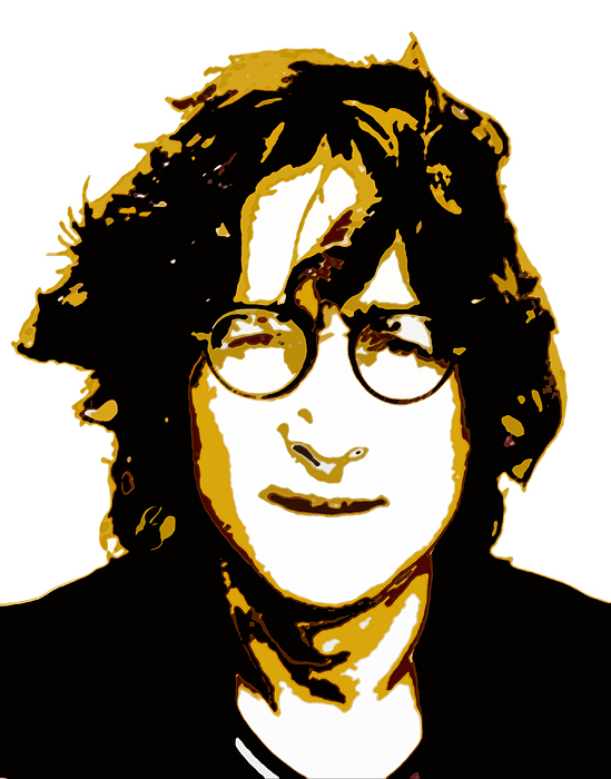 John Lennon In Shades Of Brown Print by Jera Sky