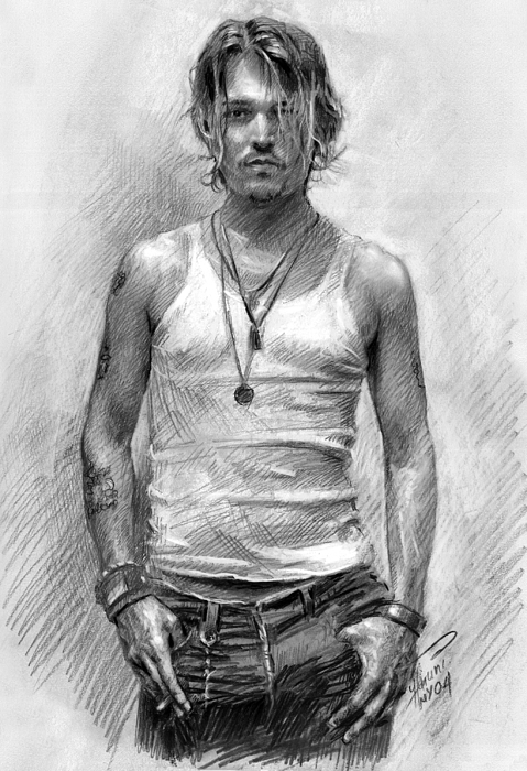 Johny Depp Print by Ylli Haruni