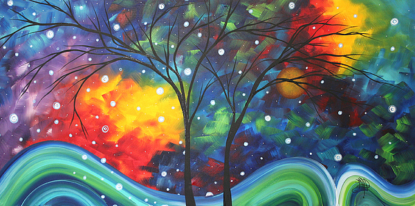 Joy By Madart Print by Megan Duncanson