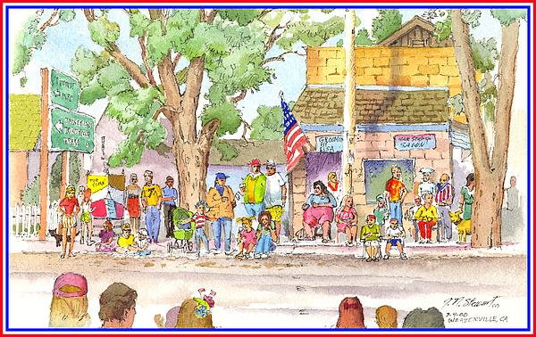 July 4th 2000 Print by John Norman Stewart