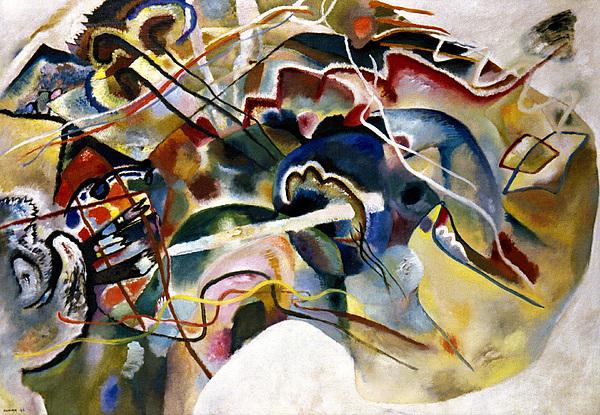 Kandinsky: White, 1913 Print by Granger