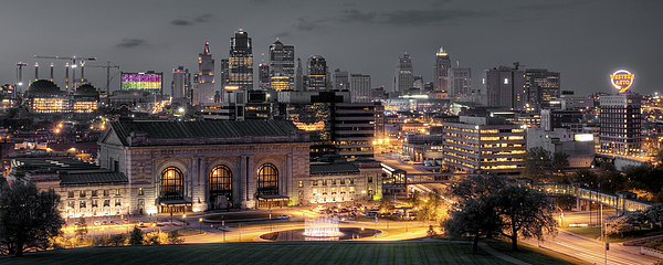 Kansas City Skyline Print by Ryan Heffron