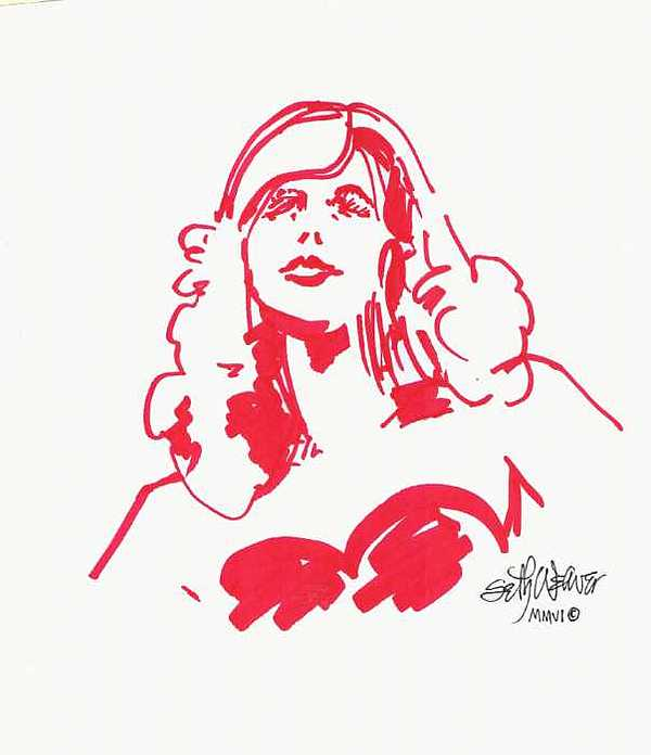 Kate Moss Print by Seth Weaver