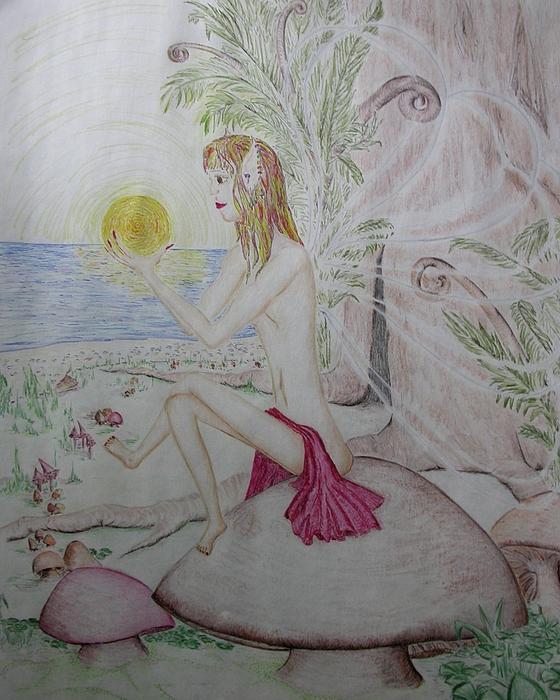 Keeper Of The Sun Print by Carol Frances Arthur