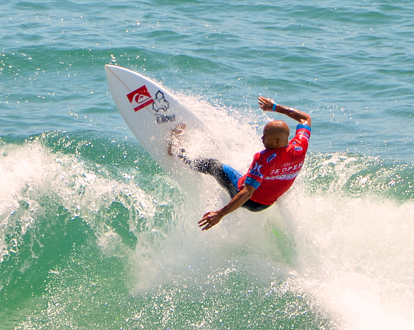 Kelly Slater Us Open Of Surfing 2012     3 Print by Jason Waugh