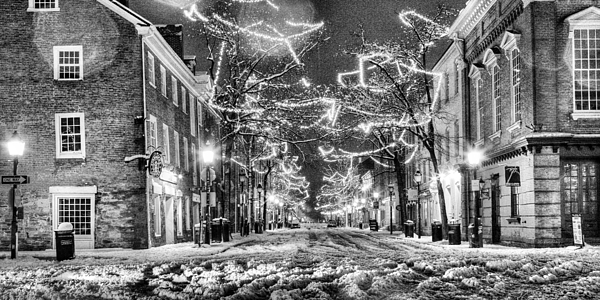 King Street In Black And White Print by JC Findley