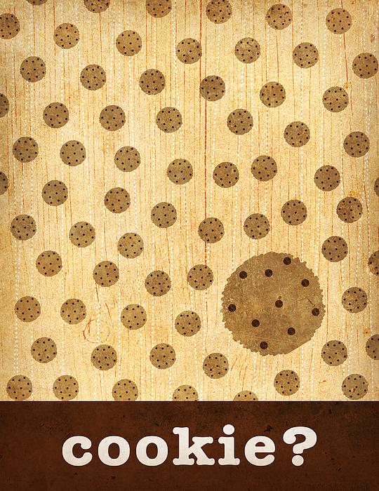 Kitchen Art - Cookie Print by Linda Tieu