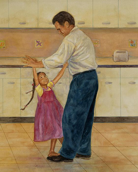 Kitchen Waltz Print by Robert Casilla