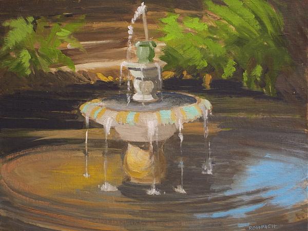 Koi pond fountain no 2 by robert rohrich for Koi pond fountains sale