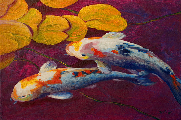 Koi Pond II Print by Marion Rose
