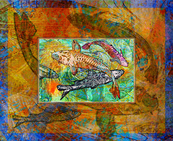 Koi Pond Print by Mary Ogle