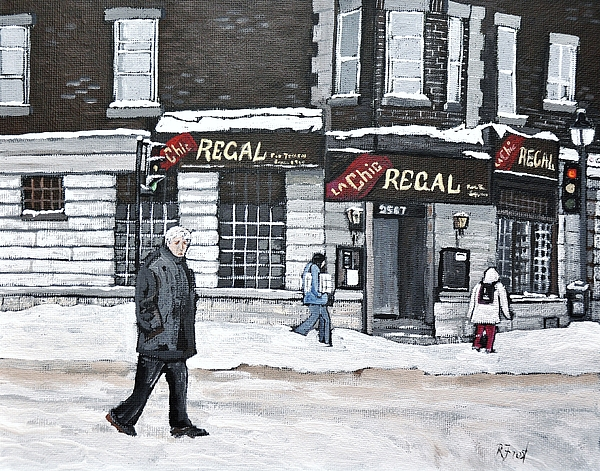 La Chic Regal Pointe St. Charles Print by Reb Frost