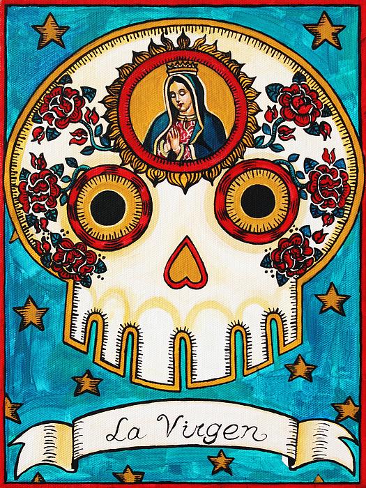 La Virgen Print by Maryann Luera